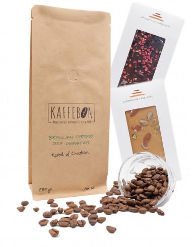 Kaffe med chokolade